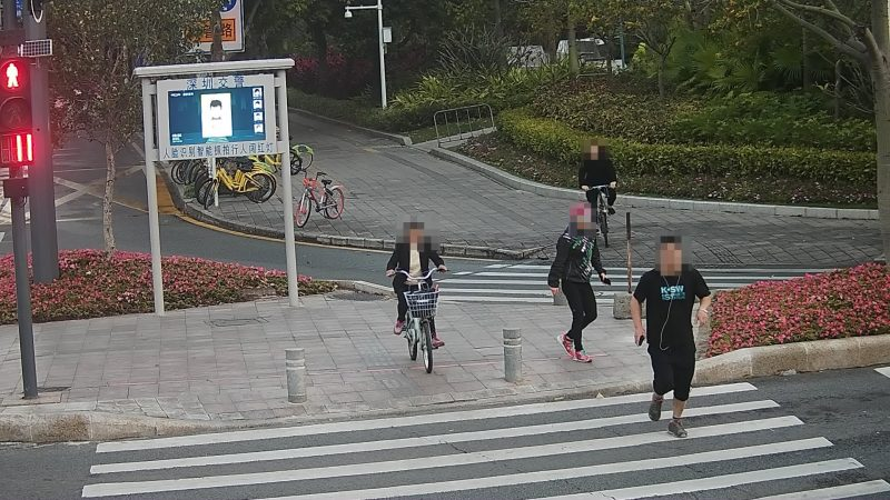 Chinese jaywalkers