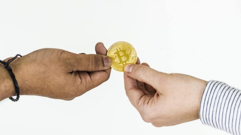 Bitcoin changing hands