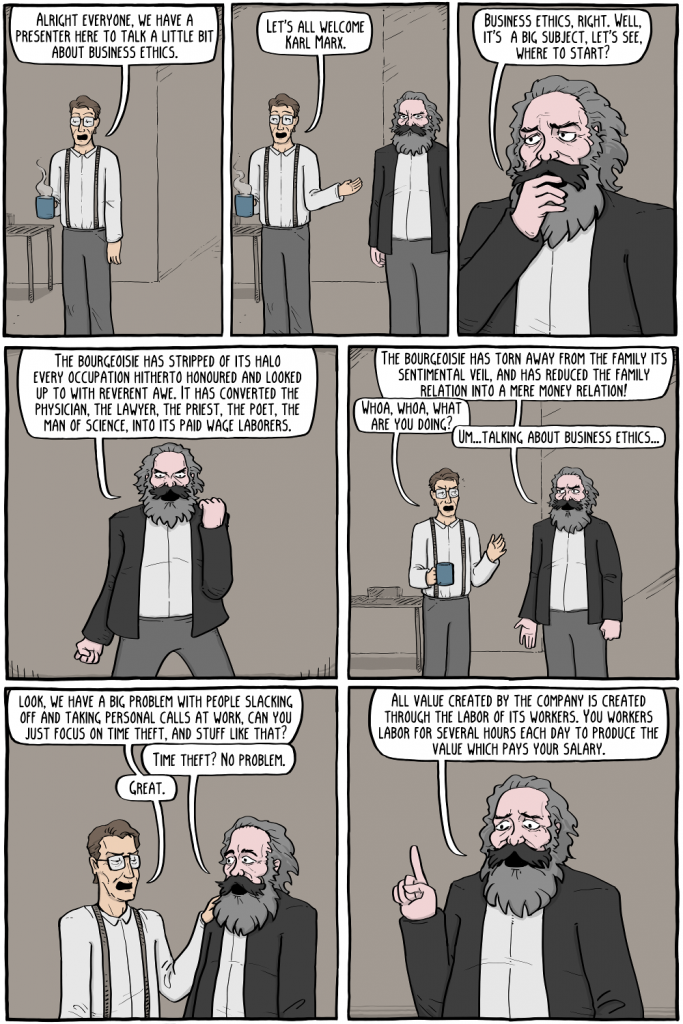 Existential Comics - Marx on Business Ethics (1)