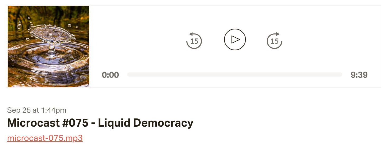 Microcast #075 - Liquid Democracy