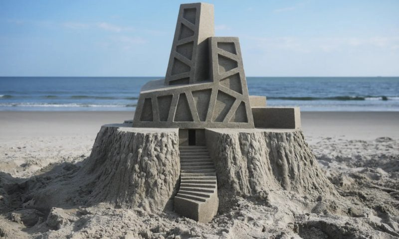 Brutalist sandcastle 01