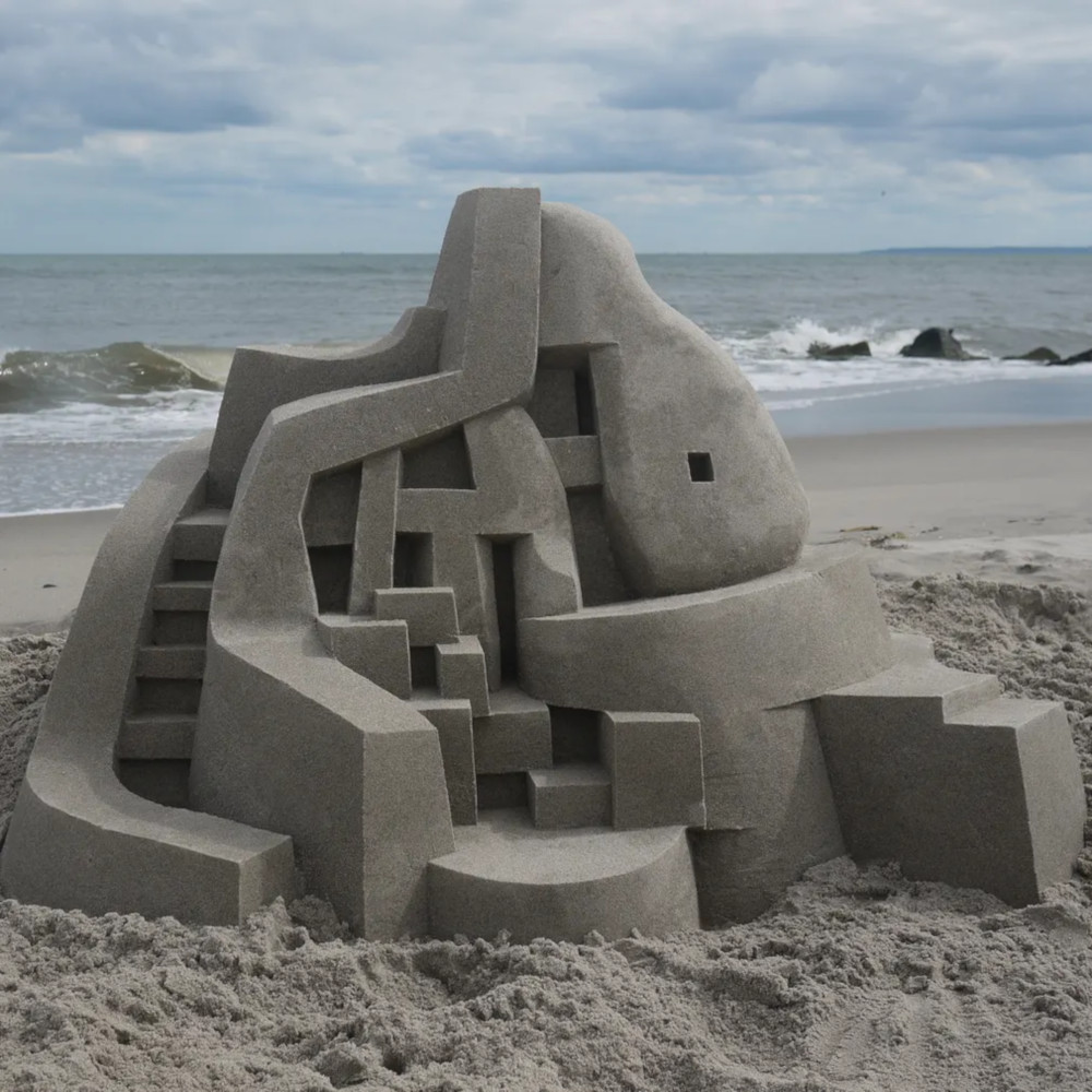 Brutalist sandcastle 02